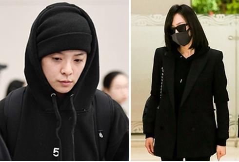 Amber (trái) và Victoria tới Hàn Quốc dự đám tang. Ảnh: Fn star.
