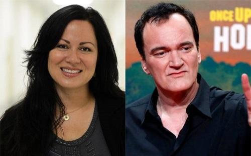 Shannon Lee (trái) và Quentin Tarantino. Ảnh: AFP.