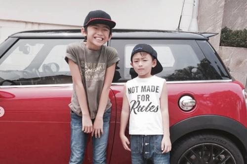 Lucas (12 tuổi) và Quintus (9 tuổi) - hai con Trương Bá Chi, Tạ Đình Phong. Ảnh: Instagram.