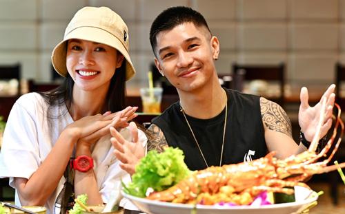Người mẫu Vũ Ngọc Anh bên người yêu ca sĩ Cường Seven. Ảnh: NA.