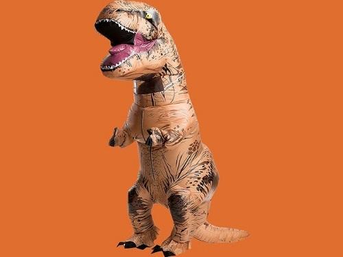 Một mẩu trang phục khủng long được giới thiệu. Ảnh: Party City.