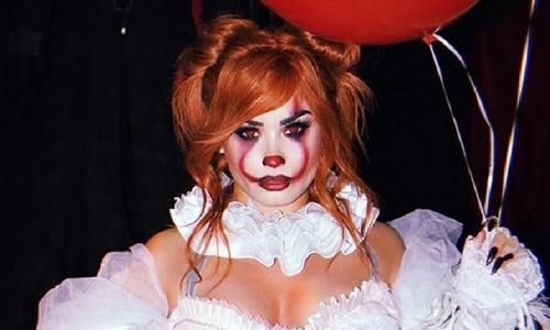 Demi Lovato hóa chú hề ma. Ảnh: Instagram.