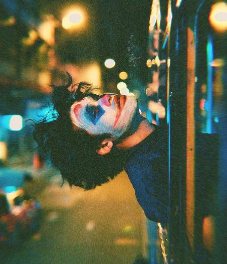 Deacon Lui đóng giả Joker. Ảnh: Instagram.