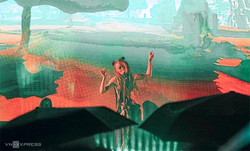 Nữ ca sĩ Đan Mạch - Mariyah. Ảnh: Đạt Phan.