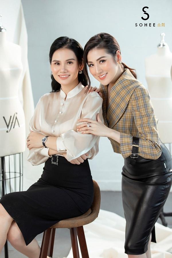 CEO Hà Bùi và đại sứ thương hiệu Sohee 2019, Á hậu Tú Anh.