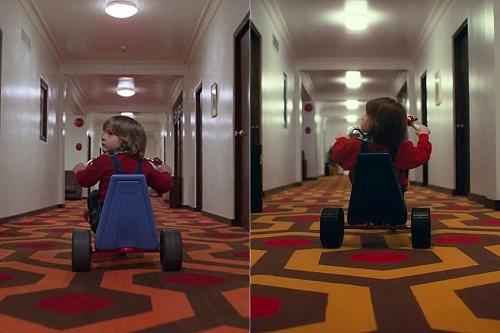 Một cảnh trong The Shining (trái) và Doctor Sleep (phải). Ảnh: Warner Bros.