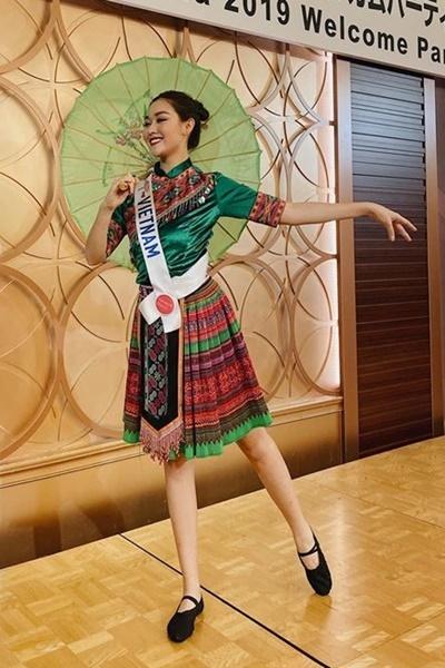 Ngày 5/11, Tường San cùng các thí sinh khác đến thăm thành phố Saitama, tham gia phần thi tài năng. Cô nhảy múa theo giai điệu ca khúc Để Mị nói cho mà nghe của nữ ca sĩ Hoàng Thùy Linh. Người đẹp mất khoảng hai tuần tập luyện liên tục cho phần múa.