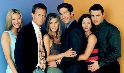 Dàn nhân vật chính của series Friends. Ảnh: Photofest.