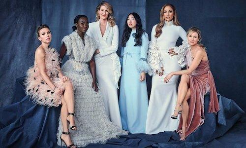 Jennifer Lopez (thứ hai từ phải sang) cùng các nữ diễn viên tham gia buổi thảo luận. Ảnh: Hollywood Reporter.