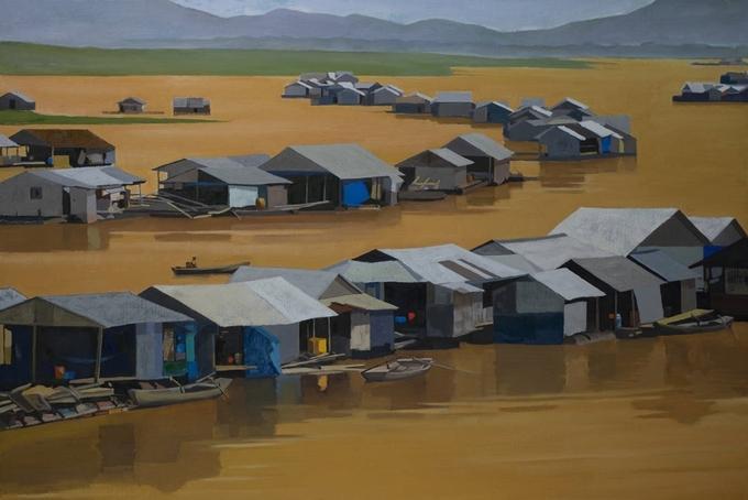 Vẻ đẹp vùng sông nước trên tranh sơn dầu