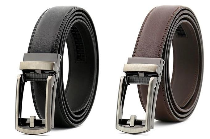 Thắt lưng khóa tự động, mặt giả kim Lucio 02 làm từ da cao cấp. Mặt khóa hợp kim thiết kế tối giản, không gỉ sét. Thiết kế đang bán chạy trên Shop VnExpress với ưu đãi 15%, còn 179.000 đồng (giá gốc 210.588 đồng).