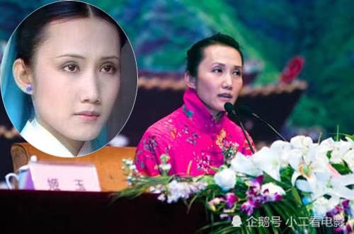 Cơ Ngọc trong Hồng lâu mộng (ảnh nhỏ) và ngoài đời. Ảnh: Weibo.