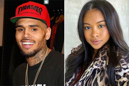 Chris Brown và bạn gái cũ Ammika Harris. Ảnh: Instagram.