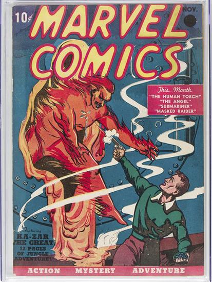 Tập truyện tranh Marvel Comic #1. Ảnh: Heritage Auctions.