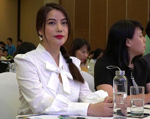 Trương Ngọc Ánh ở họp báo mở màn LHP Việt Nam lần 21. Ảnh: Ân Nguyễn.