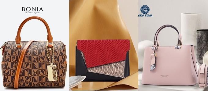 Những chiếc túi xách từ các thương hiệu nổi tiếng cũng giảm đến 50% dịp này. Các mẫu thiết kế đa dạng, màu sắc nổi bật, thích hợp phối đồ trong các buổi party, cùng bạn bè dạo chơi những ngày cuối năm