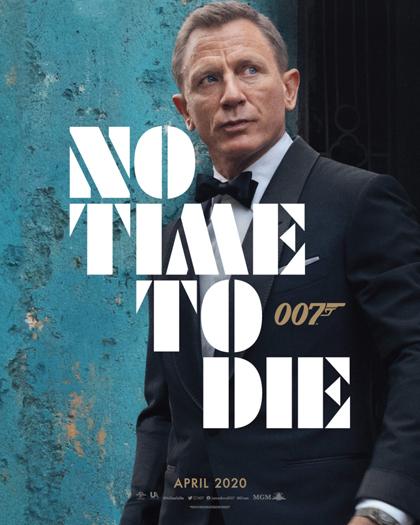 Daniel Craig trên poster quảng bá phim No time to die. Ảnh: MGM.