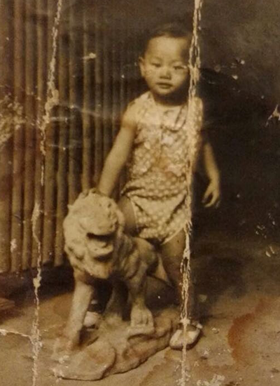 Nhạc sĩ Lam Phương năm ba tuổi. Ảnh: Gia đình cung cấp.