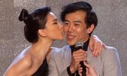 Ngô Thanh Vân hôn Leon Lê trên sân khấu