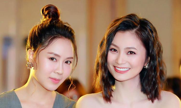 Hồng Diễm (trái, vai Khuê) và Diệu Hương (vai San). Ảnh: VFC.