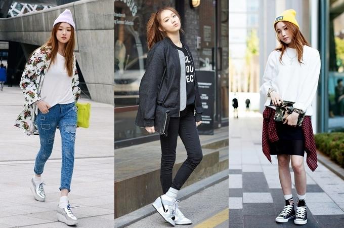Người đẹp có gần 100 đôi giày thuộc các thương hiệu lớn như Nike, Adidas, Converse, Balenciaga, New Balance, Gucci, Air Jordan hay Reebok...