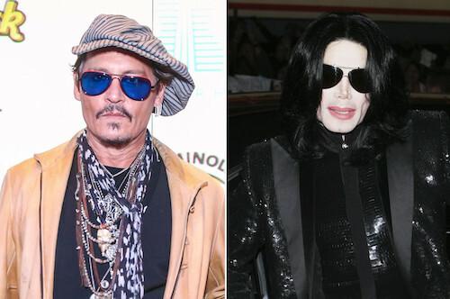 Tài tử Johnny Depp (trái) và ca sĩ Michael Jackson. Ảnh: Pagesix.
