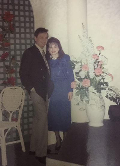 Lam Phương và người vợ đầu tiên - Túy Hồng. Ảnh gia đình cung cấp.
