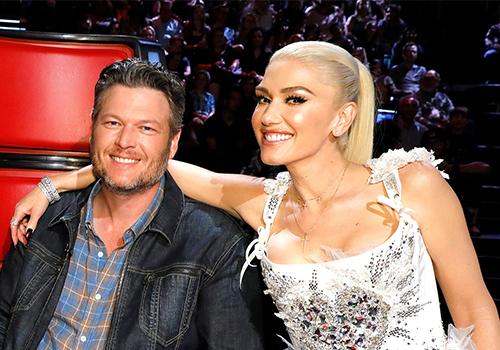 Blake Shelton và Gwen Stefani. Ảnh: NBC.