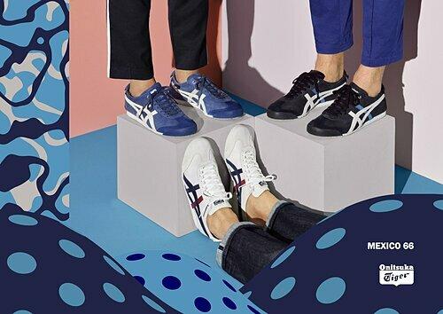 Thiết kế sneaker Mexico 66 danh tiếng của thương hiệu.