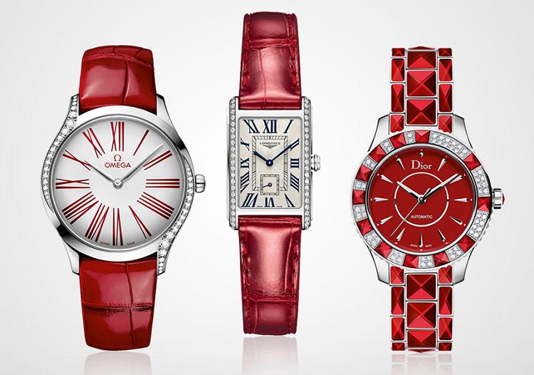 Với phái đẹp, đồng hồ màu đỏ có sức hút khó cưỡng. Không chỉ là phụ kiện lý tưởng để ghép đôi cùng các xu hướng thời trang mới, sắc đỏ còn mang đến sự rực rỡ tại những buổi tiệc đêm sang trọng, buổi họp mặt bạn bè hay gặp gỡ đối tác làm ăn.Đồng hồ đỏ góp phần giúp bạn sẽ trở nên thật nổi bật trong mắt người đối diện. Các phiên bản đồng hồ nữ màu đỏ cao cấp hơn có giá từ 70 triệu đồng đến hơn 237 triệu đồng.