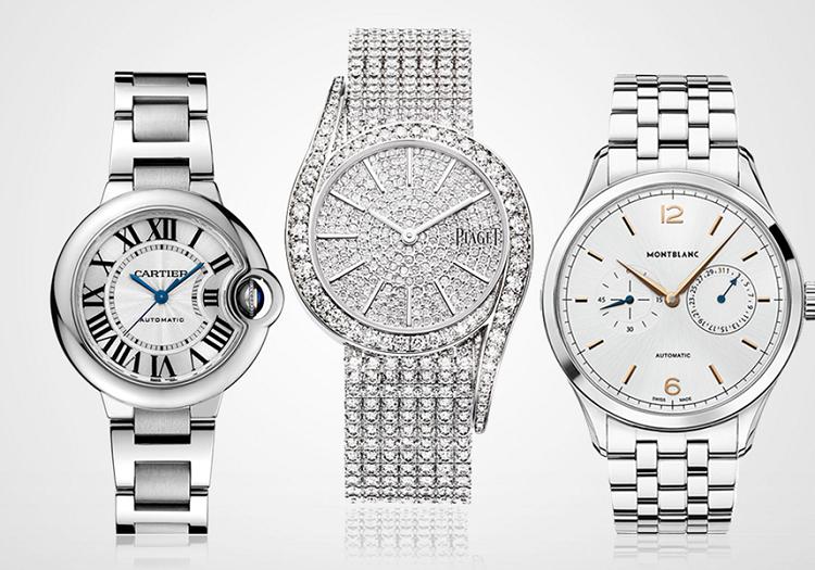 Đặc biệt hơn, bạch kim (platinum), kim loại tinh khiết có màu trắng bạc, hiện đang giữ vị trí dẫn đầu trong bảng các kim loại quý cùng với vàng và bạc. Ngày nay nhiều công ty sản xuất đồng hồ hàng đầu như Patek Philippe, Vacheron Constantin, Blancpain, IWC, Rolex và Breitling đều cho ra mắt những chiếc đồng hồ bạch kim đắt đỏ và quý giá. Với các phiên bản cao cấp và đính kim cương, đồng hồ bằng bạc có giá từ 68 triệu đồng đến 4,9 tỷ đồng.
