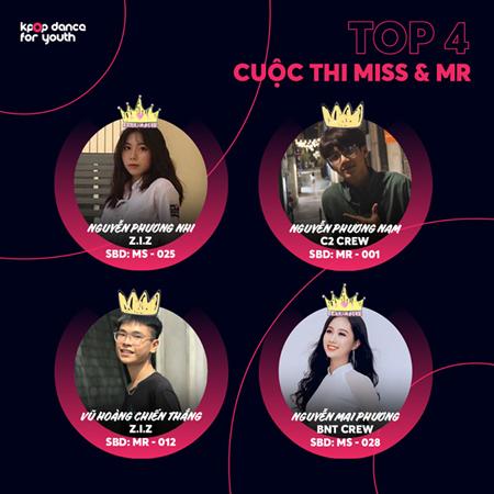 Top 4 thí sinh đang có lượt bình chọn nhiều nhất giải Miss & Mr.