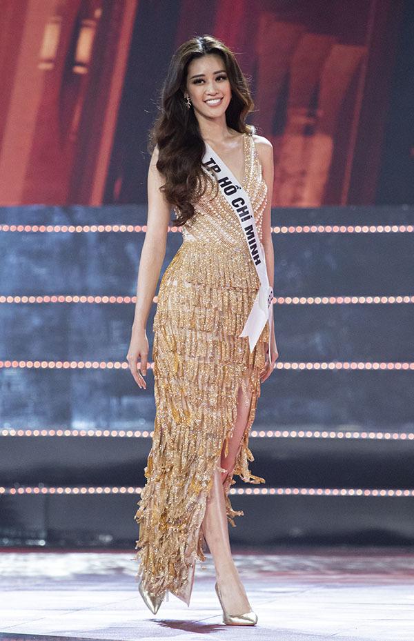 Váy dạ hội của top 10 Hoa hậu Hoàn vũ Việt Nam