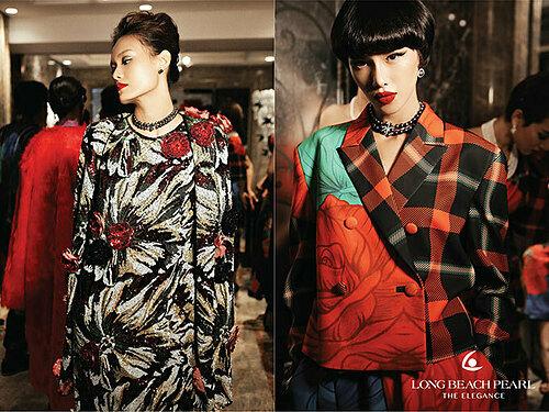 Hai nhà thiết kế tài năng giới thiệu 68 bộ trang phục quý phái, sang trọng kết hợp cùng hàng loạt trang sức mới nhất từ Long Beach Pearl.