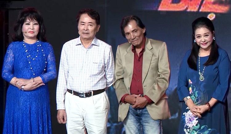 Từ trái sang: nghệ sĩ Hà Xuyên, Hai Nhất, Thương Tín, Thanh Loan. Ảnh: Đông Tây.