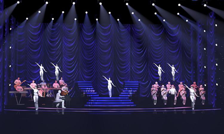 Thiết kế sân khấu Q show 2 của Lệ Quyên. Ảnh:Phạm Đạt.