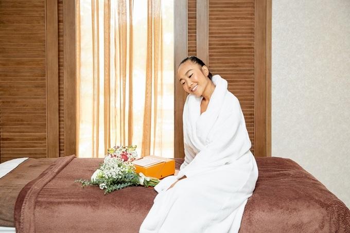 Đoan Trang luôn chú trọng làm đẹp và chọn sản phẩm làm đẹp từ thiên nhiên.