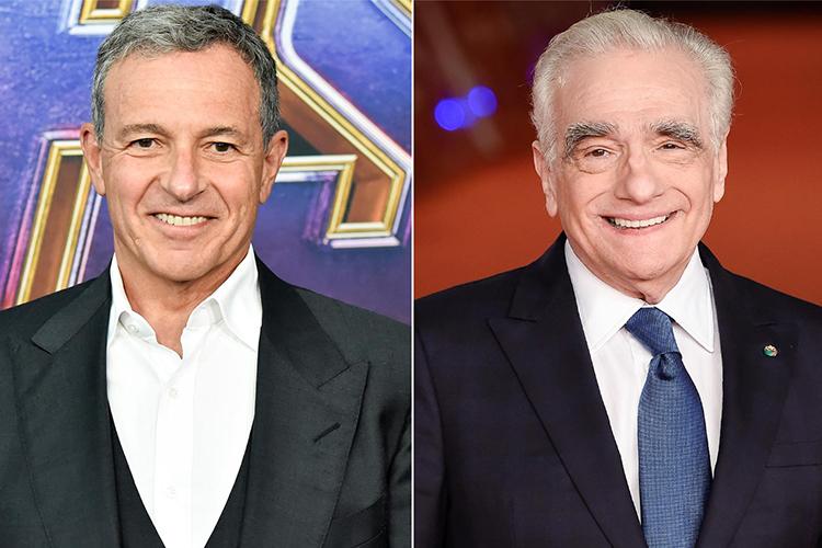 Doanh nhân Bob Iger (trái) và đạo diễn Martin Scorsese. Ảnh: EW.