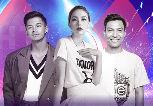 Bộ ba ban giám khảo đặc biệt đêm chung kết.