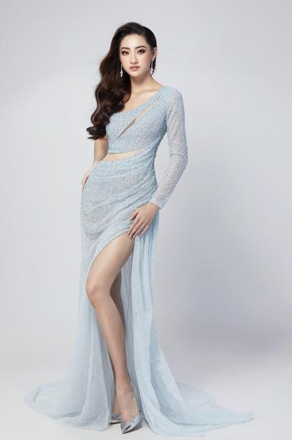 Xanh dương và trắng là gam màu được yêu thích nhất ở Miss World. Ảnh: S.V.