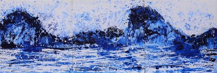 Bức Vịnh Hạ Long của Xèo Chu. Ảnh: George Berges Gallery.