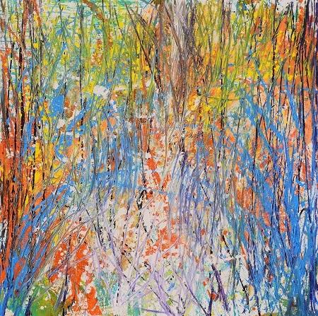 Bức Mùa thu tháng Mười của Xèo Chu. Ảnh: George Berges Gallery.