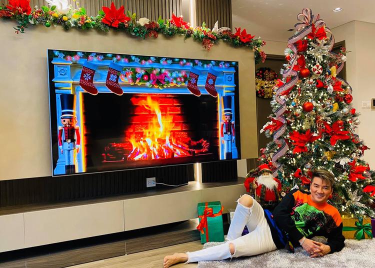 Ngoài ra anh cũng mang một số vật dụng mua ở Mỹ đem về trang trí cho căn hộ ở Hà Nội. Đàm Vĩnh Hưng thường tìm tòi những vật độc, lạ trong những chuyến lưu diễn ở nước ngoài để dành cho dịp Giáng sinh.