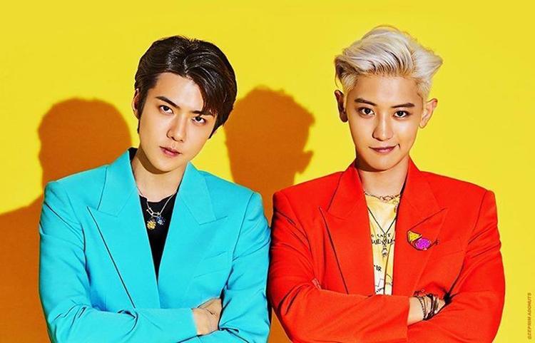 EXO-SC gồm hai thành viên Sehun và Chanyeol. Ảnh: S.M.