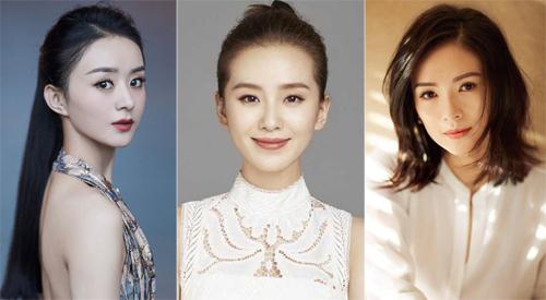Từ trái sang: Triệu Lệ Dĩnh, Lưu Thi Thi, Chương Tử Di. Ảnh: Weibo.