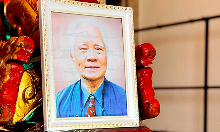 Di ảnh nhạc sĩ Nguyễn Văn Tý. Ảnh: Mai Nhật.