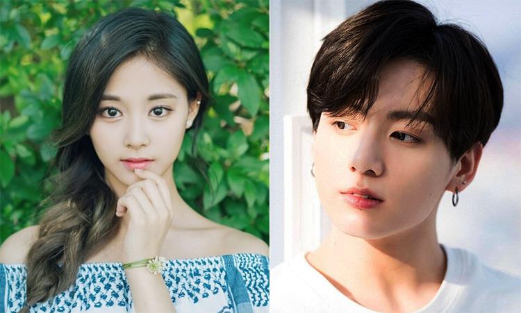 Tzuyu và Jungkook- các gương mặt được bình chọn đẹp nhất thế giới. Ảnh: Naver.