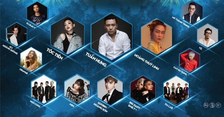 Các ca sĩ sẽ góp mặt tại sự kiện ở Hà Nội.