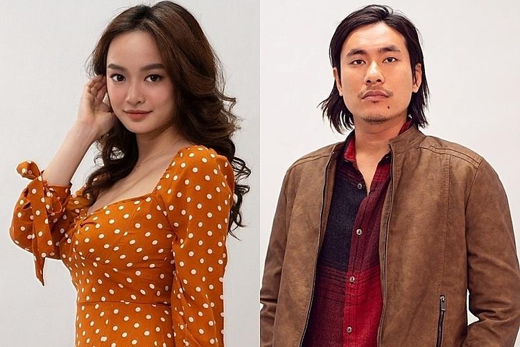 Tạo hình Kaity Nguyễn (trái) và Kiều Minh Tuấn trong phim Tiệc trăng máu. Ảnh: Lotte.