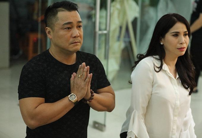 Diễn viên Lý Hùng (trái) và Lý Hương. Ảnh: Kiều Anh Kiệt.